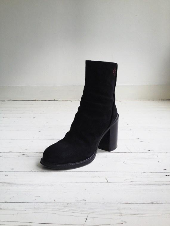 A F Vandevorst black suede ankle boots 3772 copy