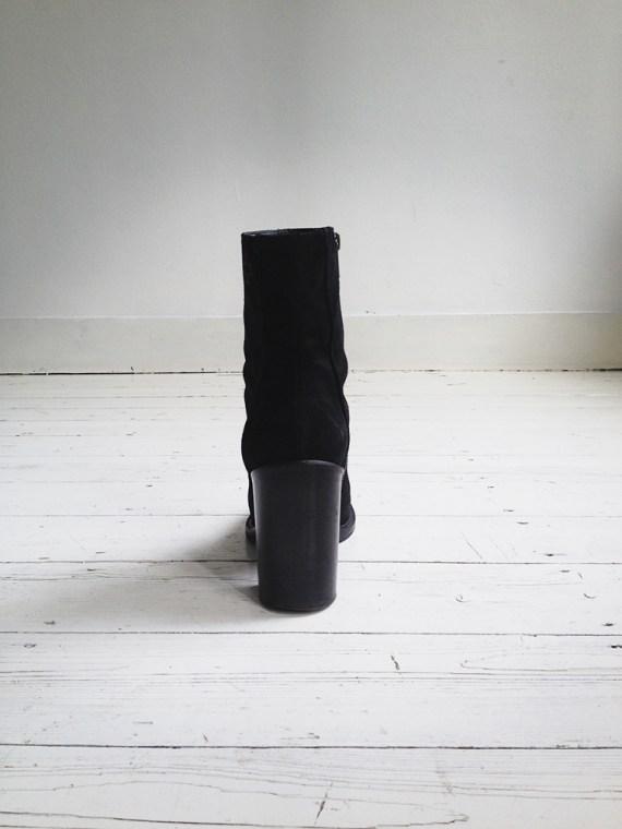 A F Vandevorst black suede ankle boots 3789 copy