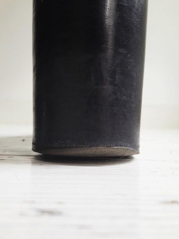 A F Vandevorst black suede ankle boots 3808 copy