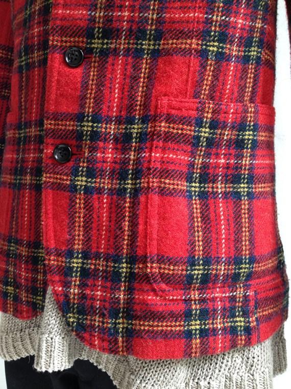 Junya Watanabe man red tartan wool blazer fall 2003 4898