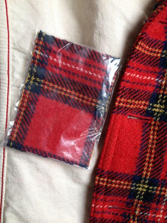 second hand Junya Watanabe Man red tartan blazer — AD 2002