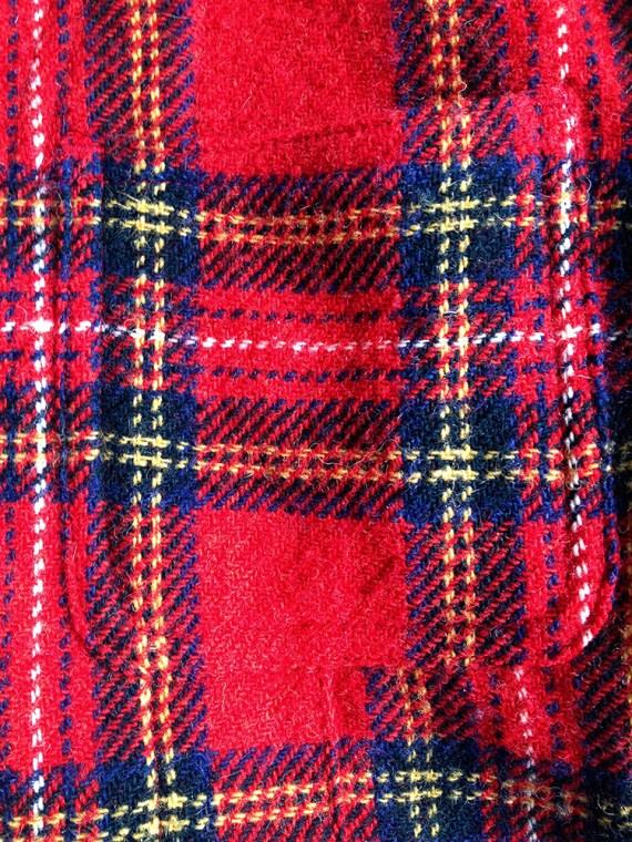 Junya Watanabe man red tartan wool blazer fall 2003 5190