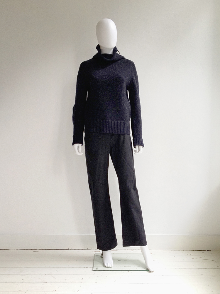 Maison Martin Margiela blue lurex jumper — fall 1999 | shop at vaniitas.com