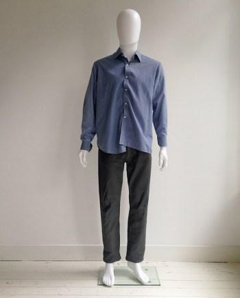 Maison Martin Margiela artisanal blue deconstructed shirt — 2003