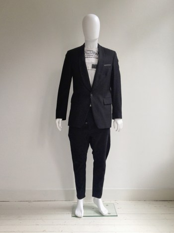 Maison Martin Margiela black blazer with stitches — fall 2005