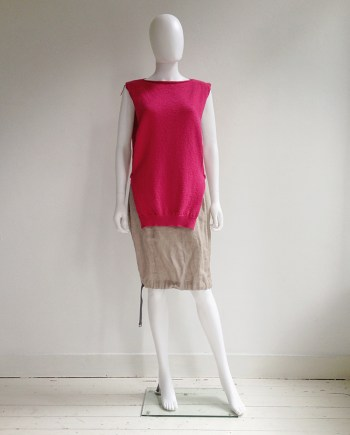 Maison Martin Margiela pink knitted top — fall 1999