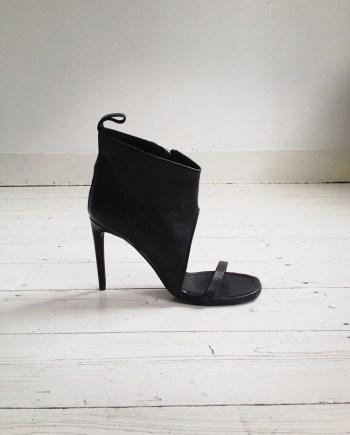 Rick Owens black spike cutout sandal (37) — spring 2011