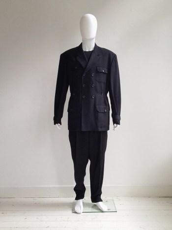 Yohji Yamamoto pour Homme black pocket coat — 80s