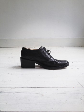 archive Ann Demeulemeester black brogues (40) — 90S