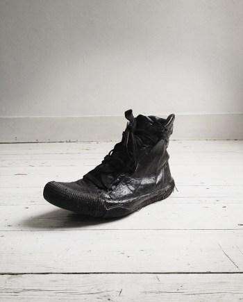 Boris Bidjan Saberi black vinyl coated sneakers