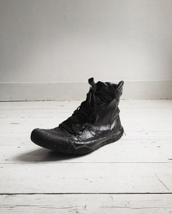 Boris Bidjan Saberi black vinyl coated sneakers