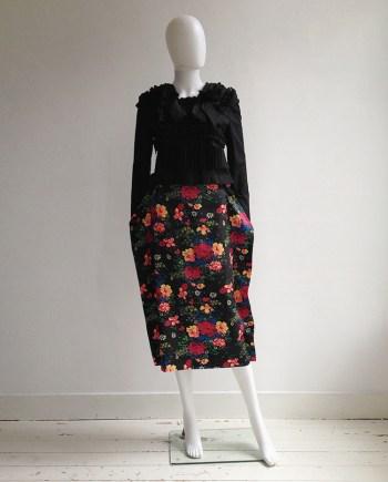 Comme des Garçons floral 2D paperdoll skirt — fall 2012