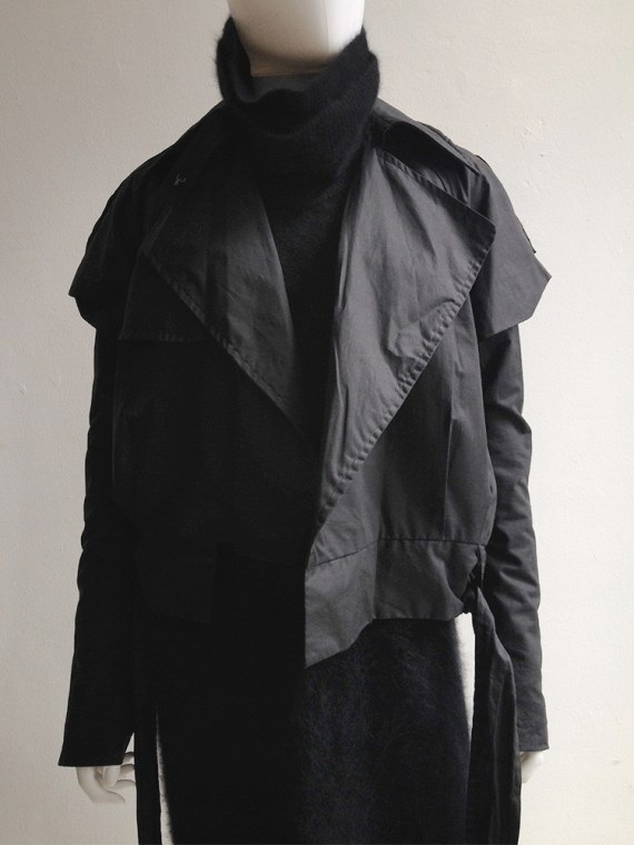 Haider Ackermann black biker coat — fall 2004