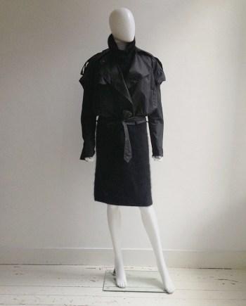Haider Ackermann black biker coat runway fall 2004