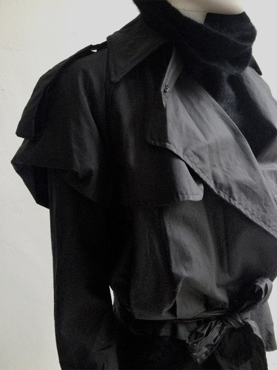 Haider Ackermann black biker coat runway fall 2004