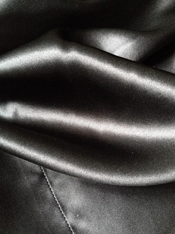 vintage Haider Ackermann black cardigan with silk back panel