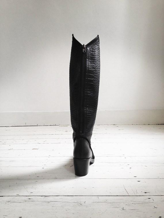 Haider Ackermann black crocodile boots (39) — fall 2011