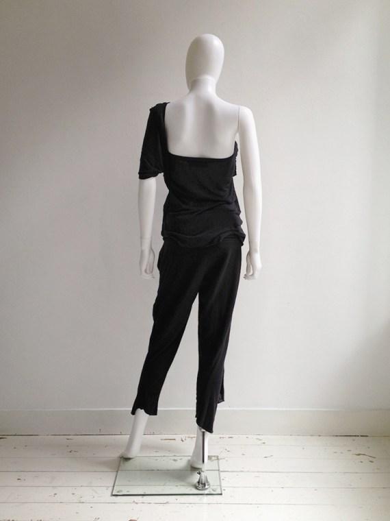 Haider Ackermann black draped top with sash