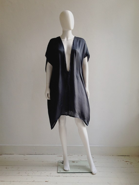 Haider Ackermann blue deep cut tunic dress