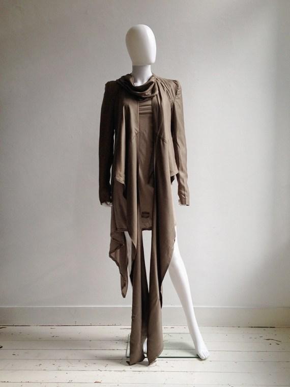 Haider Ackermann bronze draped blazer — spring 2007