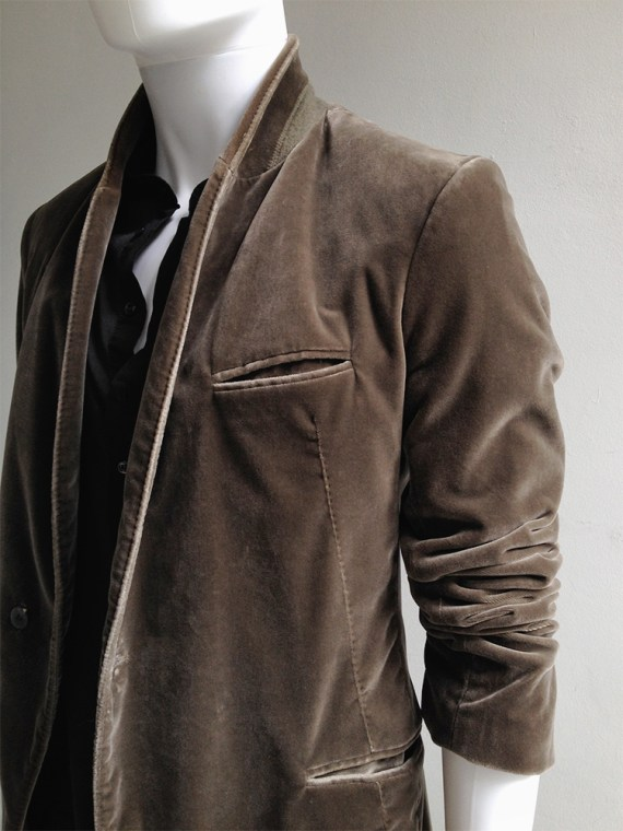 Haider Ackermann brown velvet blazer — fall 2014