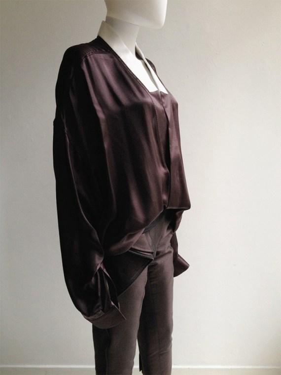 Haider Ackermann purple kimono blouse with white collar — spring 2014