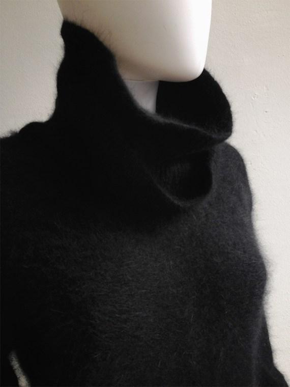 Issey Miyake black double collar dress