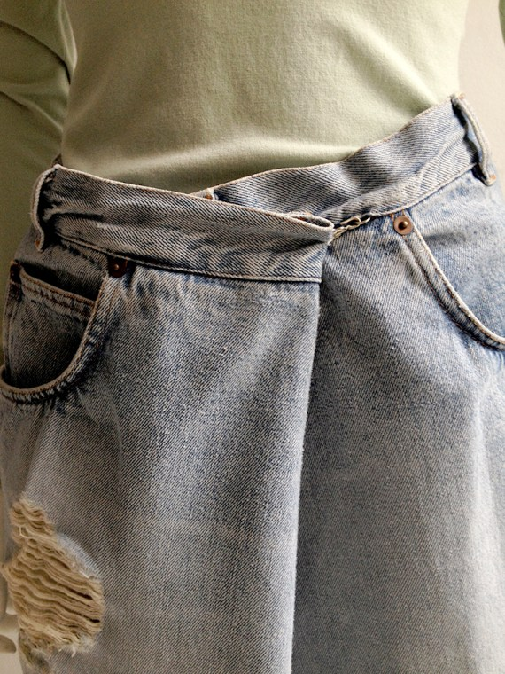 Maison Martin Margiela oversized denim trousers — fall 2000