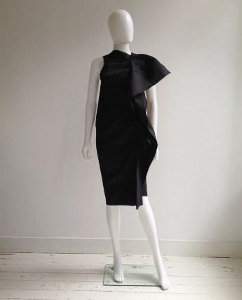 Uma Wang black sculptural drape dress — spring 2013