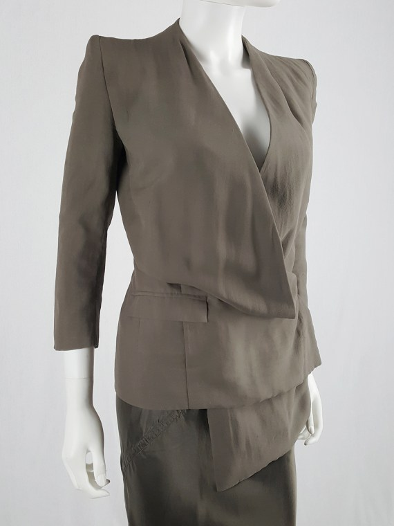 Haider Ackermann brown asymmetric blazer — spring 2007