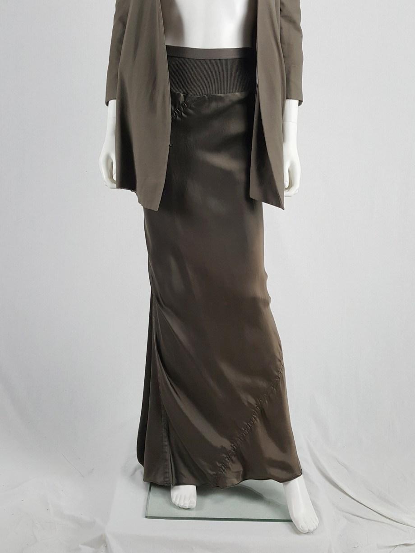 Rick Owens ISLAND brown twisted mermaid skirt — spring 2013