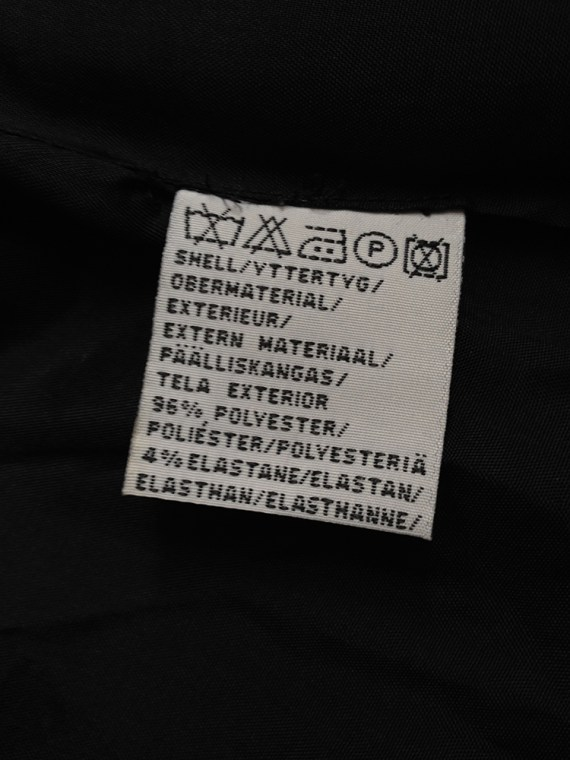 archive Ann Demeulemeester black maxi coat — 90s