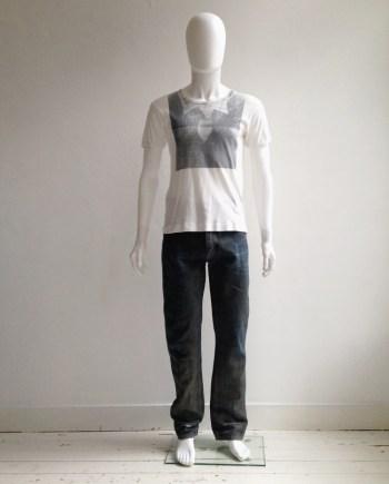 Maison Martin Margiela artisanal green painted jeans