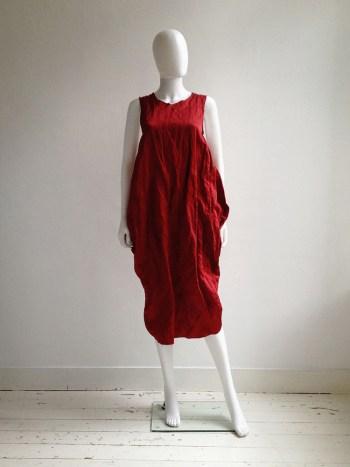 Uma Wang red back drape dress — fall 2013