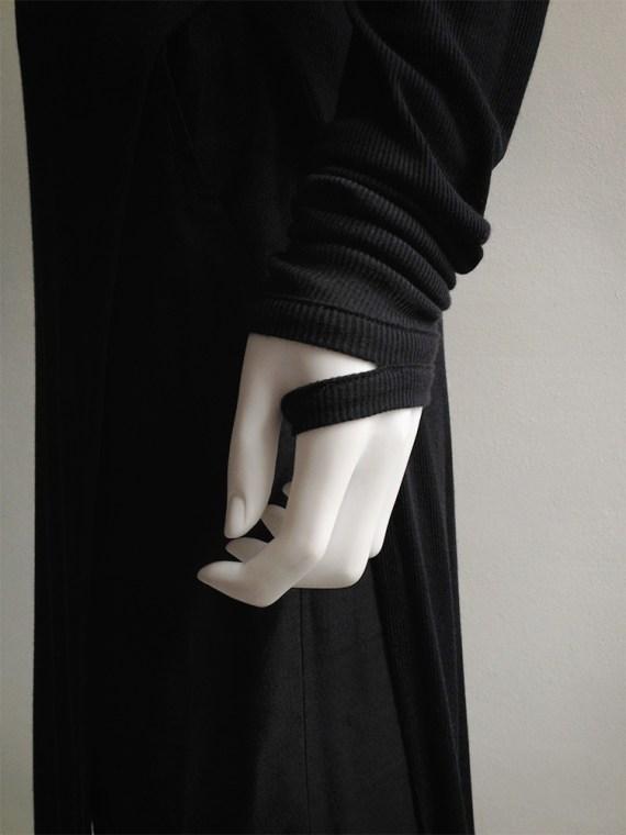 Ann Demeulemeester black long jumper with wrist straps 5081