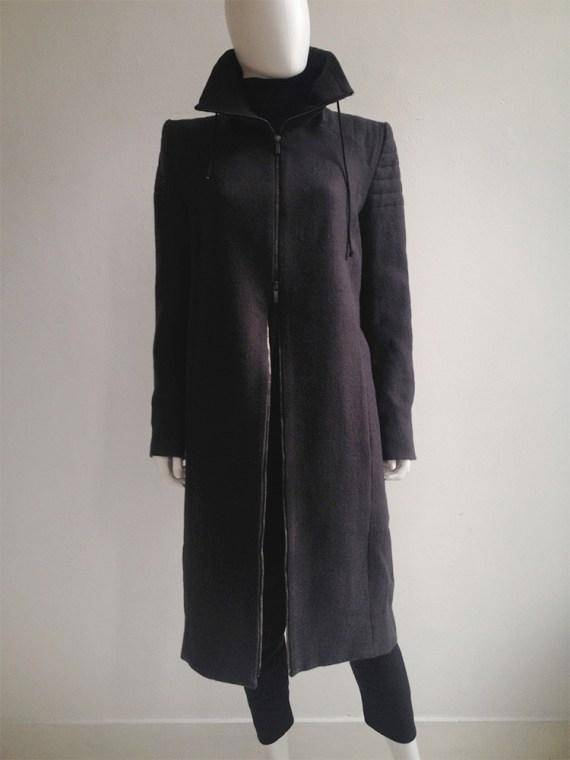 Haider Ackermann purple long coat fall 2012 8628