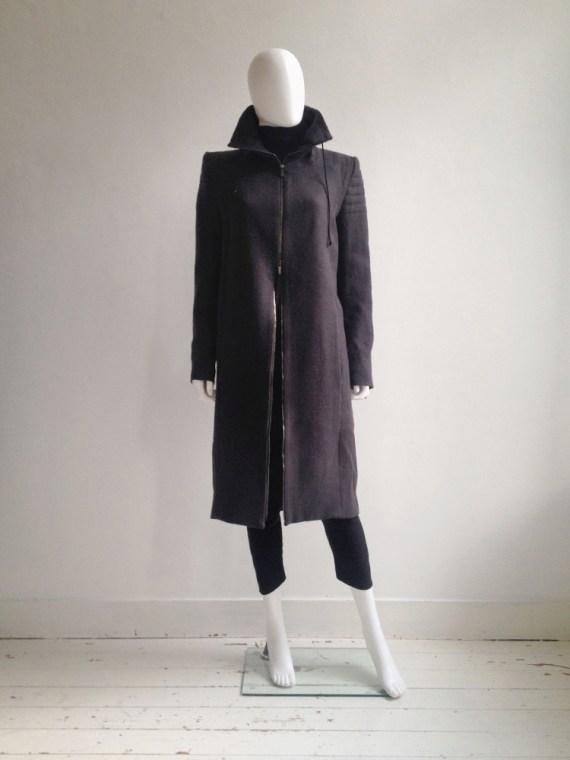 Haider Ackermann purple long coat fall 2012 8644
