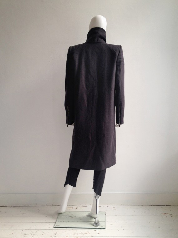 Haider Ackermann purple long coat fall 2012 8704
