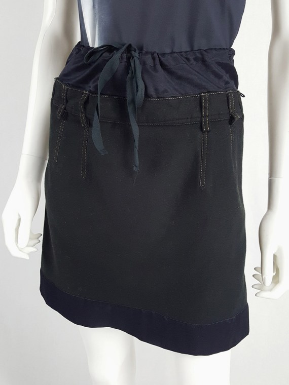 Maison Martin Margiela artisanal black and blue mini skirt 104103