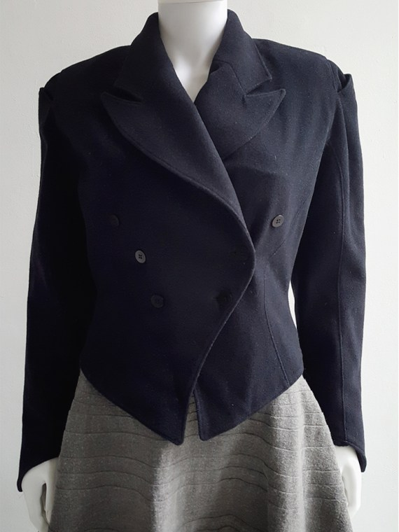 Ann Demeulemeester dark blue regency coat _120255