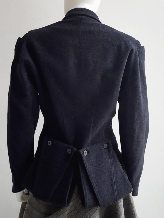 Ann Demeulemeester dark blue regency coat _120521