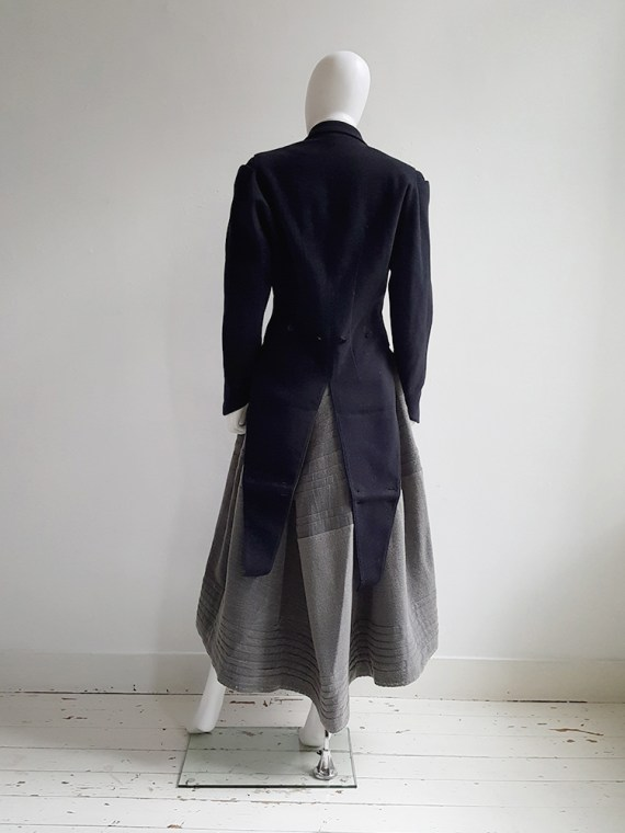 Ann Demeulemeester dark blue regency coat _120933