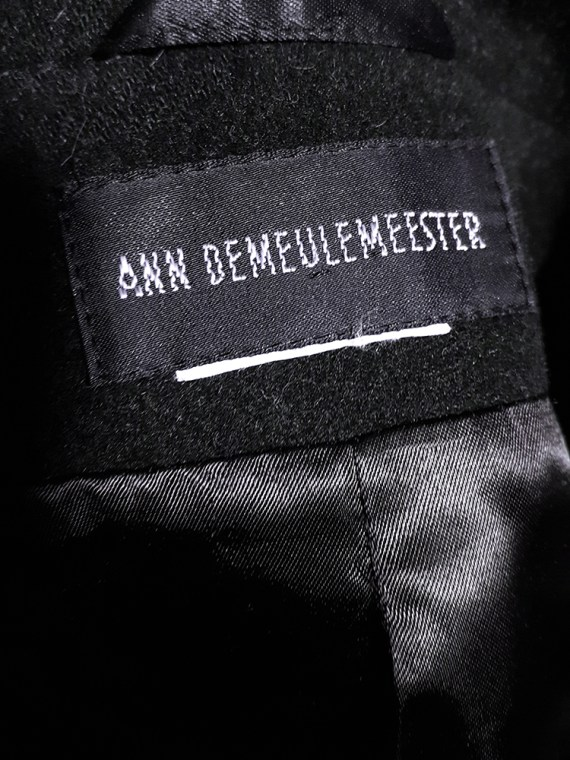 Ann Demeulemeester dark blue regency coat_214306