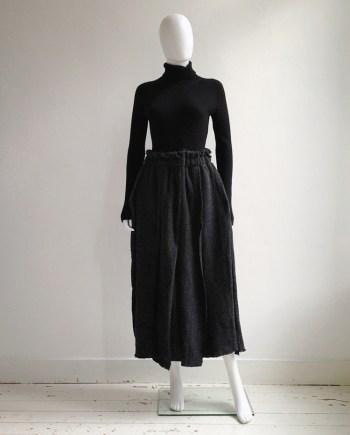 Comme des Garçons grey heavy knit skirt — fall 2002