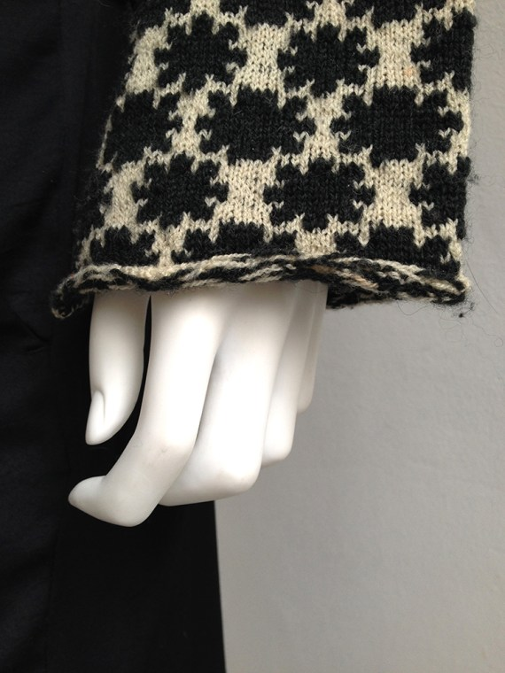 Dries Van Noten black and white deformed jumper 0489