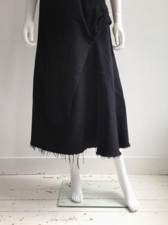 Junya Watanabe black bowtie dress with raw hem runway fall 2003 0668
