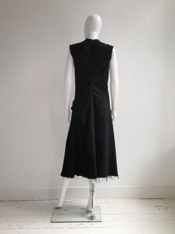 Junya Watanabe black bowtie dress with raw hem runway fall 2003 0707