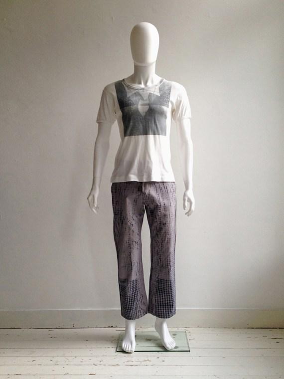 Maison Martin Margiela artisanal pied de poule printed trousers spring 2000 archive 045