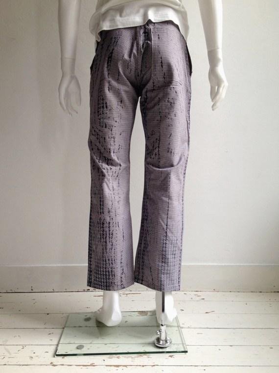 Maison Martin Margiela artisanal pied de poule printed trousers spring 2000 archive 0spring 2000 archive 1