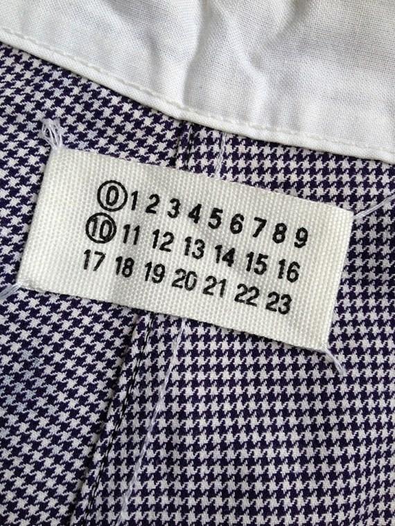 Maison Martin Margiela artisanal pied-de-poule printed trousers — spring 2000
